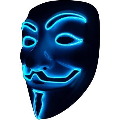 SOUTHSKY LED Maschera Vendetta Maschera El Wire Light Up